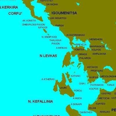 vacanze in barca a vela in Grecia carta isole ioniche