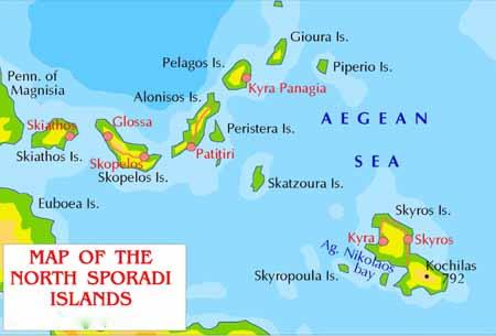 vacanze in barca a vela in Grecia carta