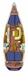 noleggio barche senza skipper sun odyssey 45 piano