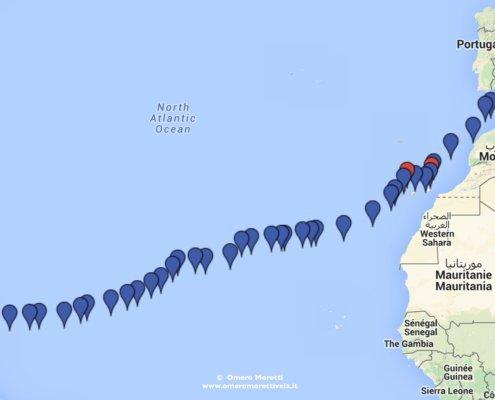 traversata atlantica a vela andata rotta