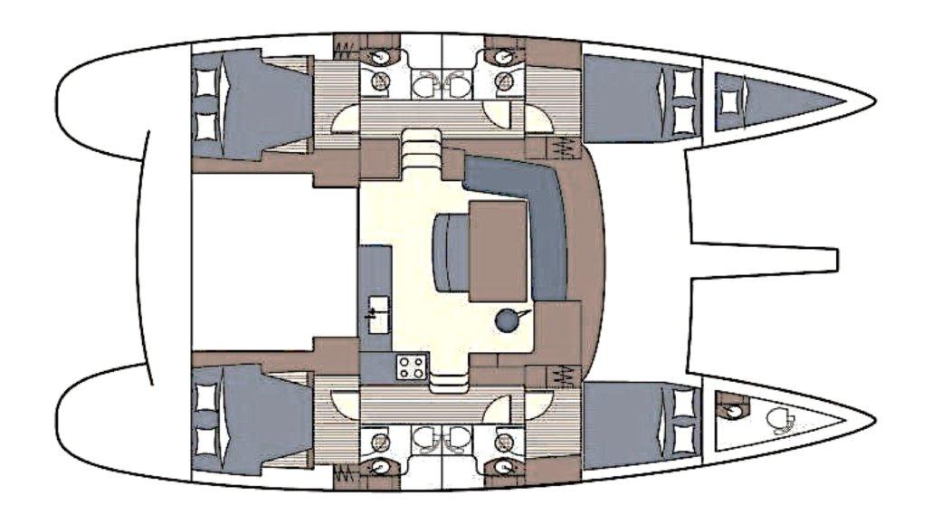 layoput catamarano vacanze in barca
